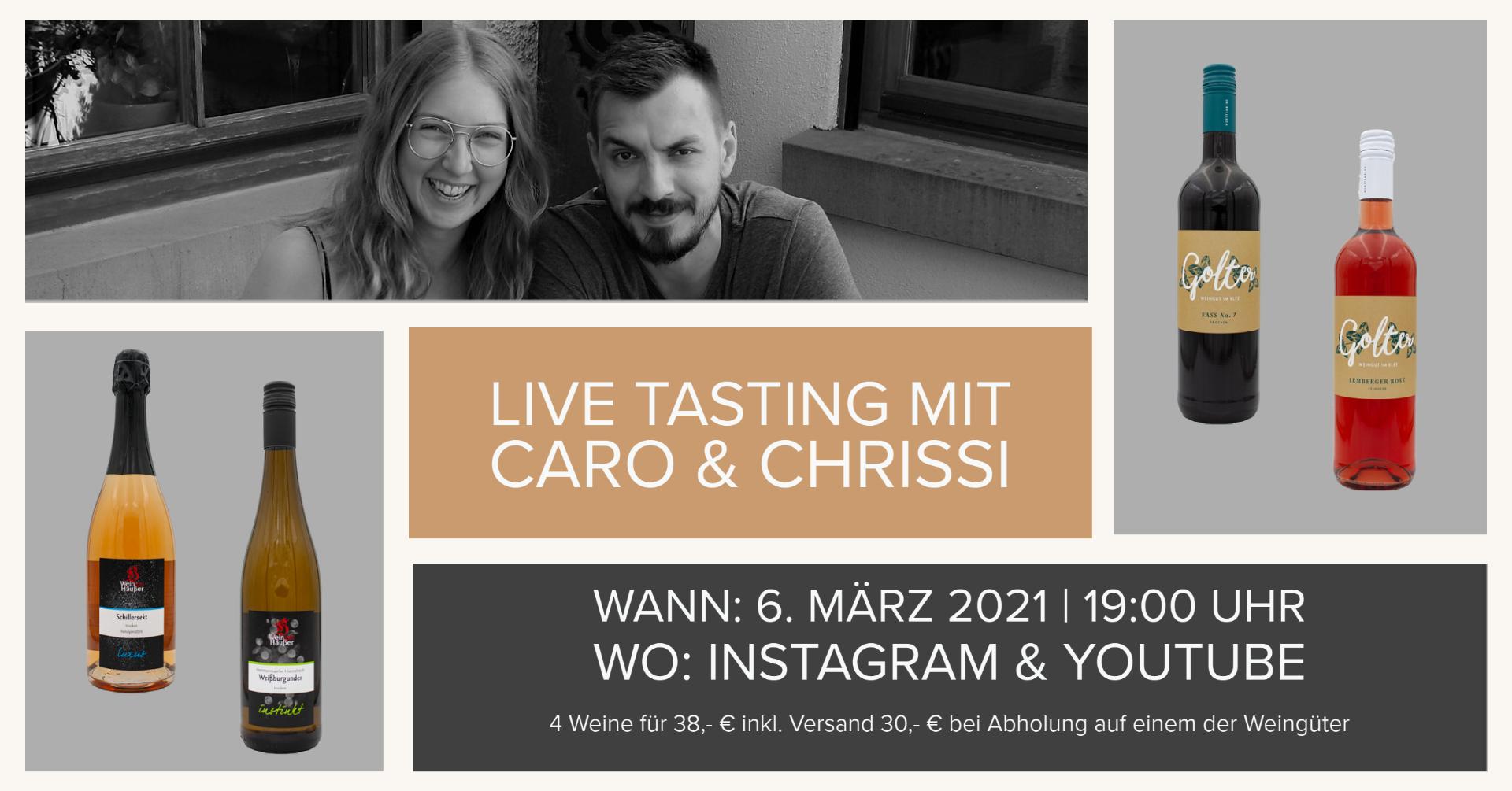 Live Tasting mit Caro & Chrissi