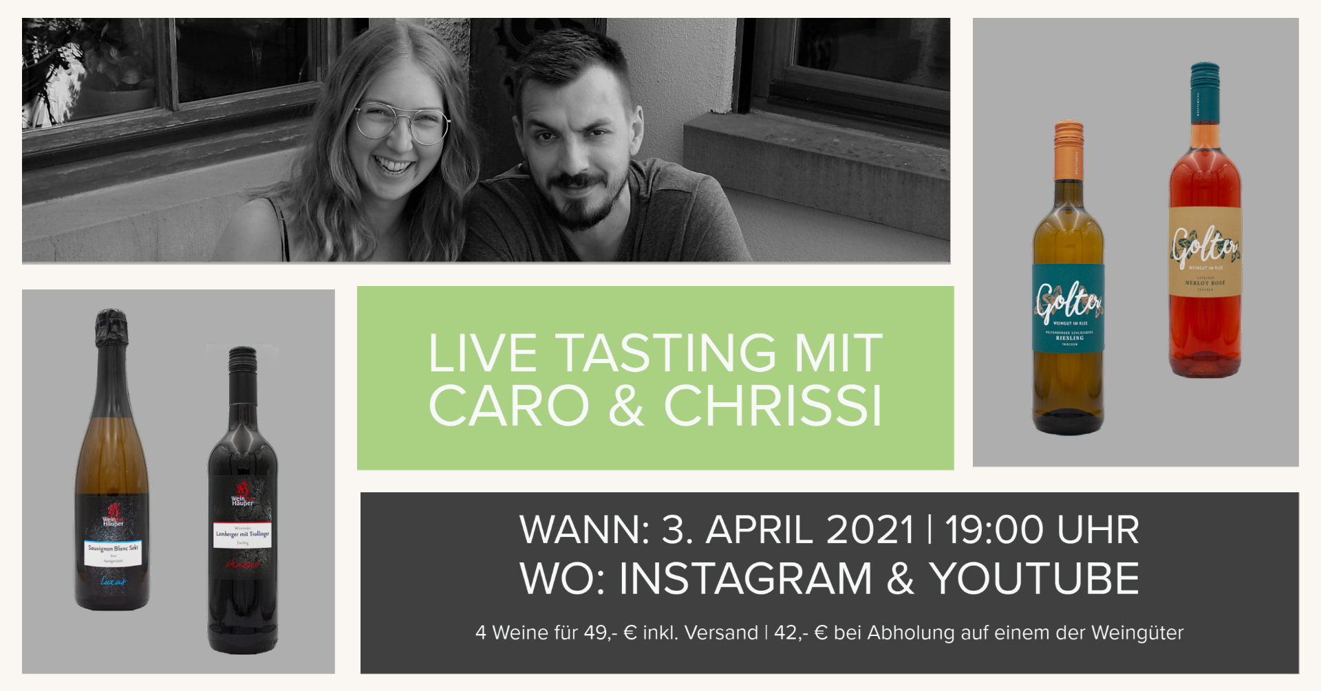 2. Live Tasting mit Caro & Chrissi