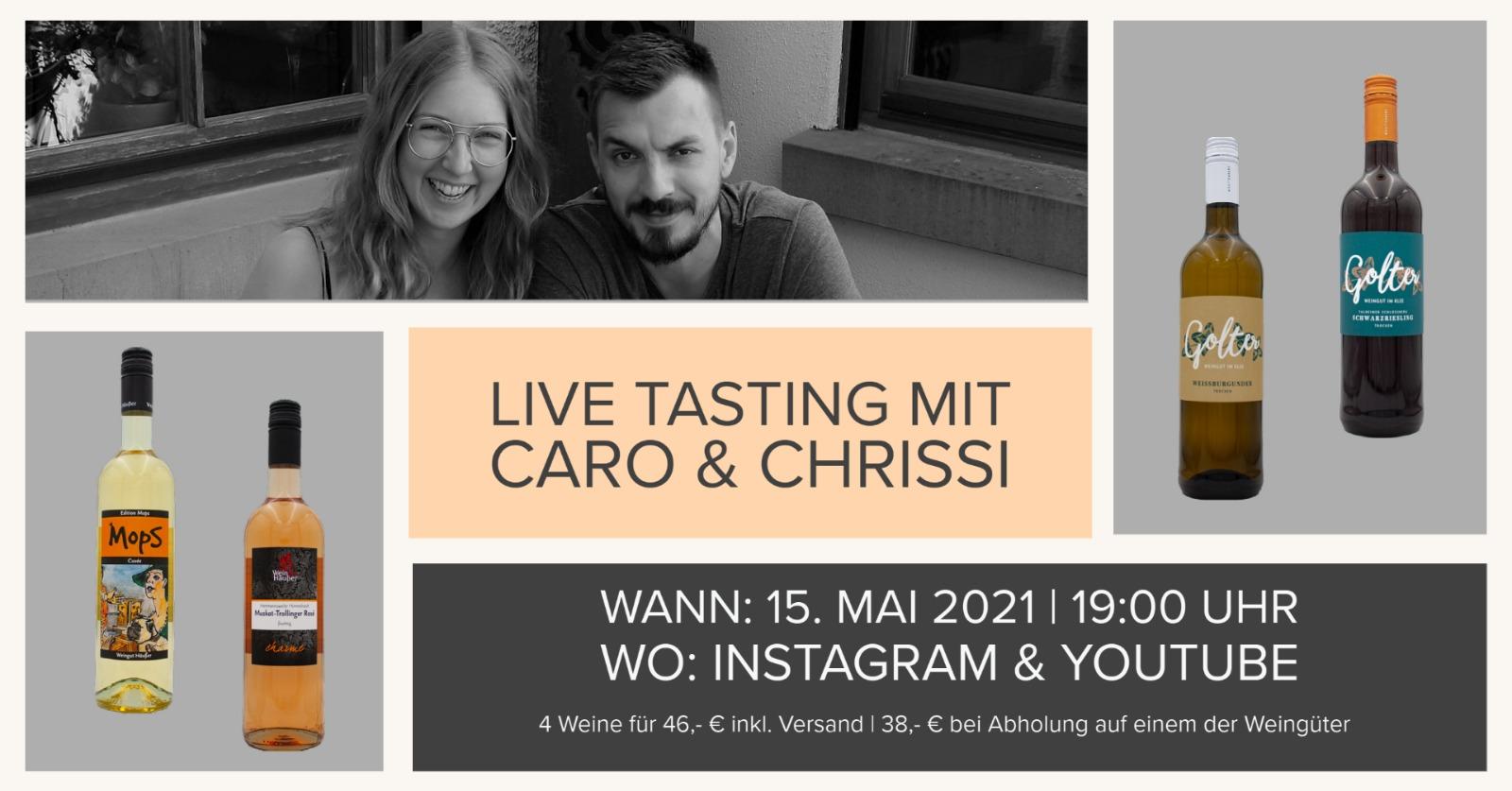 3. Live Tasting mit Caro & Chrissi